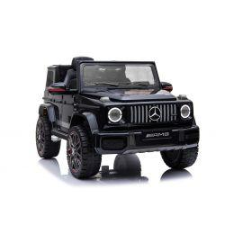 Elektromos kisautó gyerekeknek Mercedes G, Eredeti Liszensz, 2,4 GHz távirányító, Nyitható ajtók, Egyszemélyes ülés, fekete, 12V,  2 X MOTOR
