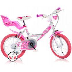 """DINO Bikes - Gyerek bicikli 14"""" 144RN - fehér 2017"""