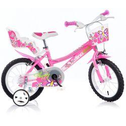 "DINO Bikes - Gyerek bicikli 14"" 146R - rózsaszín 2017"