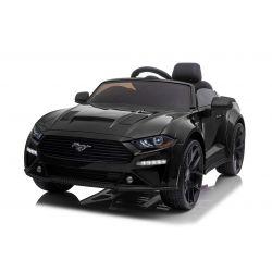 Ford Mustang 24V Drift elektromos autó, fekete, Smooth Drift kerekek,  2 x 25 000 RPM (fordulat / perc) motor, Drift üzemmód 13 Km / h sebességgel, 24 V akkumulátor, LED lámpák, első EVA kerekek, 2,4 GHz-es távirányító, Puha PU ülés, ORIGINAL licenc