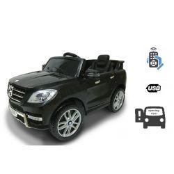 Elektromos kisautó gyerekeknek Mercedes-Benz ML 350, egyszemélyes ülés, rugózással, akku 12V, 2,4 GHz távirányító, nyitható ajtók, 2 X MOTOR, fekete, eredeti liszensz