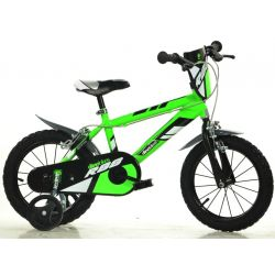 "DINO Bikes - Gyerek bicikli 14"" 414UZ - zöld 2017"