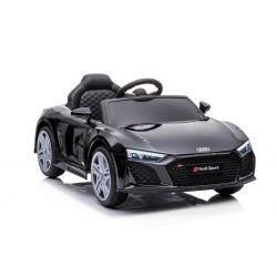 Audi R8 Spyder elektromos játékautó új modell, műanyag ülés, műanyag kerekek, USB / SD bemenet, akkumulátor 12V, 2 X 25W MOTOR, fekete, EREDETI licenc