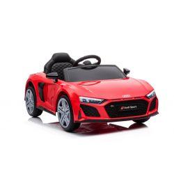 Audi R8 Spyder elektromos játékautó új modell, műanyag ülés, műanyag kerekek, USB / SD bemenet, akkumulátor 12V, 2 X 25W MOTOR, piros, EREDETI licenc