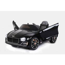 Elektromos kisautó gyerekeknek Bentley EXP12, 12V, 2,4 GHz távirányító, felfelé nyitható ajtók, EVA kerekek, bőr ülés, 2 X MOTOR, fekete, Eredeti Liszensz