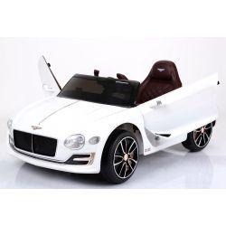 Elektromos kisautó gyerekeknek Bentley EXP12, 12V, 2,4 GHz távirányító, felfelé nyitható ajtók, EVA kerekek, bőr ülés, 2 X MOTOR, fehér, Eredeti Liszensz