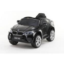 Elektromos kisautó gyerekeknek BMW X6M ÚJ – Egyszemélyes, Eredeti Liszensz, 2,4 GHz távirányító, Nyitható ajtók, Bőr ülés, EVA kerekek, lakkozott fekete, 12V,  2 X MOTOR