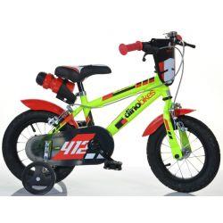 """DINO Bikes - Gyerek bicikli 12"""" 412US - fekete-piros 2017"""