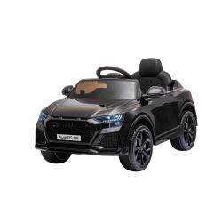 Elektromos autó Audi RSQ8, 12V, 2,4 GHz távirányító, USB bemenet, LED-es lámpák, 12 V-os akkumulátor, puha EVA kerekek, 2 X35W MOTOR, fekete, Eredeti liszensz