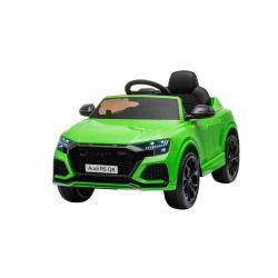 Elektromos autó Audi RSQ8, 12V, 2,4 GHz távirányító, USB  bemenet, LED-es lámpák, 12 V-os akkumulátor, puha EVA kerekek, 2 X35W MOTOR, zöld, Eredeti liszensz