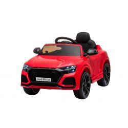 Elektromos autó Audi RSQ8, 12V, 2,4 GHz távirányító, USB bemenet, LED-es lámpák, 12 V-os akkumulátor, puha EVA kerekek, 2 X35W MOTOR, piros, Eredeti liszensz