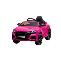 Elektromos autó Audi RSQ8, 12V, 2,4 GHz távirányító, USB bemenet, LED-es lámpák, 12 V-os akkumulátor, puha EVA kerekek, 2 X35W MOTOR, rózsaszín, Eredeti liszensz