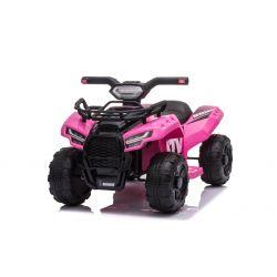 Elektromos ATV MINI 6V, rózsaszín, MP3 lejátszó USB / AUX bemenettel, 1 X 25W motor, 6V / 4Ah akkumulátor, fényszórók