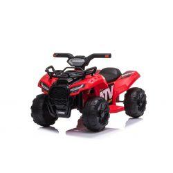 Elektromos ATV MINI 6V, piros, MP3 lejátszó USB / AUX bemenettel, 1 X 25W motor, 6V / 4Ah akkumulátor, fényszórók
