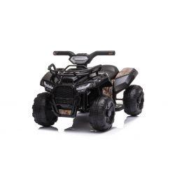 Elektromos ATV MINI 6V, fekete, MP3 lejátszó USB / AUX bemenettel, 1 X 25W motor, 6V / 4Ah akkumulátor, fényszórók