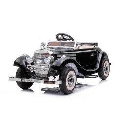 Mercedes-Benz 540K 4x4 Elektromos autó, fekete, felnőtt vezérlés a kormánykerék által, 4x4, 12V14AH akkumulátor, EVA kerekek, kárpitozott ülés, 2,4 GHz DO, MP3 lejátszó, USB, Bluetooth, eredeti licenc