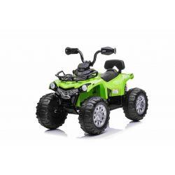 Elektromos ATV SUPERPOWER 12V, zöld, műanyag kerekek gumiszalaggal, 2 x 45W motor, műanyag ülés, felfüggesztés, 12V7Ah akkumulátor, MP3 lejátszó