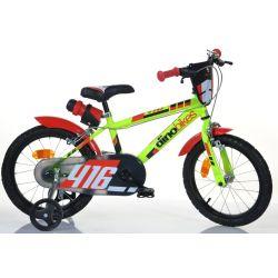 """DINO Bikes - Gyerek bicikli 16"""" 416US - fekete-piros 2017"""