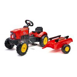 FALK Pedálos traktor 2030AB SuperCharger pótkocsival és nyitható motorháztetővel