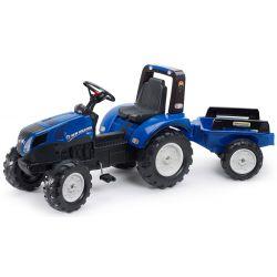 KIÁRUSÍTÁS - FALK Pedálos traktor New Holland T8 pótkocsival 3090B