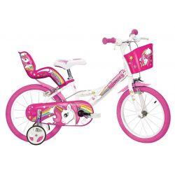 """DINO Bikes - Gyerek bicikli 16"""" 164 RUN - Egyszarvú"""