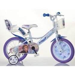 """DINO Bikes - 14 """"144RF3 gyerekkerékpár babaüléssel és kosárral Fagyasztott 2"""