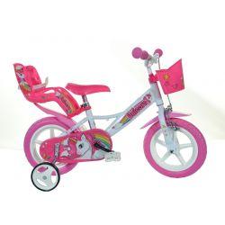 """DINO Bikes - Gyerek bicikli 12"""" 124RLUN - Egyszarvú"""