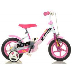 """DINO Bikes - Gyerek bicikli 10"""" 108FLG - Girl 2017"""