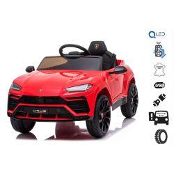 Elektromos játékautó Lamborghini Urus, 12 V, 2,4 GHz távirányító, USB / SD bemenet, lengéscsillapított, nyitható ajtók, puha EVA kerekek, 2 X MOTOR, piros, Eredeti liszensz