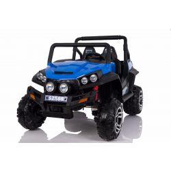 Elektromos Kisautó gyerekeknek RSX 4 Kerék Meghajtás, kék, 2x12V, EVA Kerék, széles 2 személyes bőr ülés, 2,4 GHz távirányító, 4 X MOTOR, FM Radio, Bluetooth