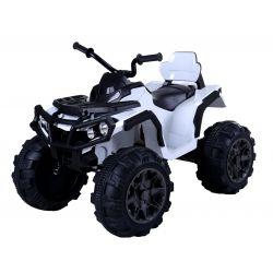 HERO 12V elektromos quad, fehér, puha EVA kerekek, 2,4 GHz távirányító, műbőr ülés, lengéscsillapított, 12V7Ah akkumulátor