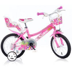 "DINO Bikes - Gyerek bicikli 16"" 166R - rózsaszín 2017"