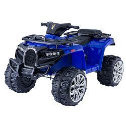 Elektromos QUAD ATV ALLROAD 12V, kék, puha EVA kerekek, LED lámpák, MP3 lejátszó USB bemenettel, 2 X 12 V motor, 12V7Ah akkumulátor