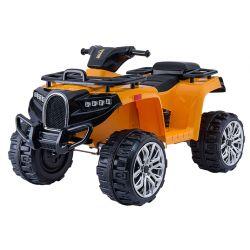 Elektromos QUAD ATV ALLROAD 12V, narancssárga, puha EVA kerekek, LED lámpák, MP3 lejátszó USB bemenettel, 2 X 12 V motor, 12V7Ah akkumulátor