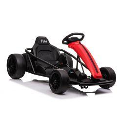 Drift Car elektromos Gokart 24V, piros, sima drift kerekek, 2 x 350 W-os motor, drift mód 18 Km / h sebességgel, 24 V-os akkumulátor, szilárd szerkezet