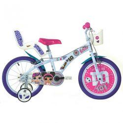 """DINO kerékpárok - 16 """"gyermekkerékpár 616GLOL - LOL SURPRISE"""