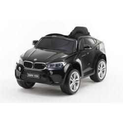 Elektromos kisautó gyerekeknek BMW X6M ÚJ – Egyszemélyes, Eredeti Liszensz, 2,4 GHz távirányító, Nyitható ajtók, Bőr ülés, EVA kerekek, fekete, 12V,  2 X MOTOR