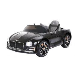 Elektromos kisautó Bentley EXP12, 12V, 2,4 GHz távirányító, felfelé nyitható ajtók, EVA kerekek, bőr ülés, 2 X MOTOR, fekete lakkozott, Eredeti Liszensz