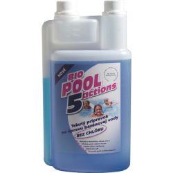 BioPool 5 Actions folyékony klórmentes vízkezelés medencékehez és jakuzzikhoz