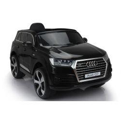 Elektromos kisautó Audi Q7, Eredeti Liszensz, 2,4 GHz távirányító, Nyitható ajtók, Bőr ülés, EVA kerekek, fekete, 12V,  2 X MOTOR
