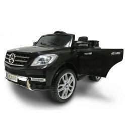 Elektromos kisautó Mercedes-Benz ML 350, egyszemélyes ülés, rugózással, akku 12V, 2,4 GHz távirányító, nyitható ajtók, 2 X MOTOR, fekete, eredeti liszensz