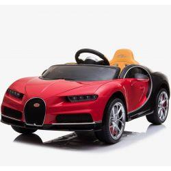 Elektromos kisautó Bugatti Chiron, 12V, 2,4 GHz távirányító, EVA kerekek, bőr ülés, 2 X MOTOR, Piros, Eredeti Liszensz