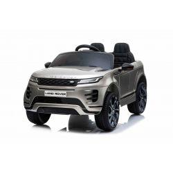 Range Rover EVOQUE elektromos autó, együléses, lakkozott szürke, bőr ülés, MP3 lejátszó USB / SD csatlakozással, 4x4 hajtás, 12V10AH akkumulátor, EVA kerekek, lengéscsillapított hátsó kerekek, kulcsos háromállású indítás, 2,4 GHz-es Bluetooth távirányító,