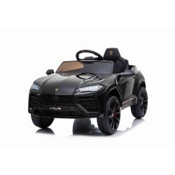 Elektromos játékautó Lamborghini Urus, 12 V, 2,4 GHz távirányító, USB / SD bemenet, lengéscsillapított, nyitható ajtók, puha EVA kerekek, 2 X MOTOR, fekete, EREDETI engedély