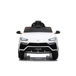 Elektromos játékautó Lamborghini Urus, 12 V, 2,4 GHz távirányító, USB / SD bemenet, lengéscsillapított, nyitható ajtók, puha EVA kerekek, 2 X MOTOR, Fehér, EREDETI engedély