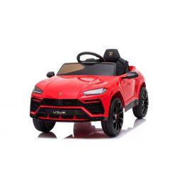Elektromos játékautó Lamborghini Urus, 12 V, 2,4 GHz távirányító, USB / SD bemenet, lengéscsillapított, nyitható ajtók, puha EVA kerekek, 2 X MOTOR, piros, EREDETI engedély