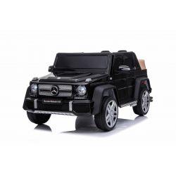 Elektromos játékautó Mercedes G650 MAYBACH, 12 V, 2,4 GHz távirányító, USB / SD bemenet, lengéscsillapított, 12 V akkumulátor, puha EVA kerekek, 2 X MOTOR, fekete, ORIGINAL engedély