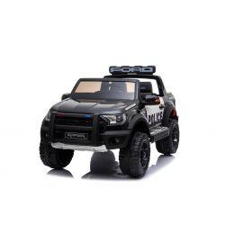 Elektromos autó gyerekeknek Ford Raptor Police, EVA kerekek, kiváló minőségű felfüggesztés, kárpitozott ülés, 2,4 GHz DO, kulcs, 2 X MOTOR, kétüléses, USB, SD kártya, ORIGINAL engedély