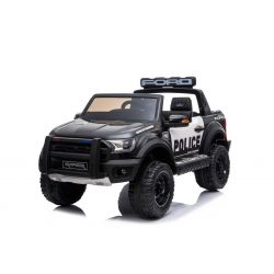 Elektromos autó Ford Raptor Police, EVA kerekek, kiváló minőségű felfüggesztés, kárpitozott ülés, 2,4 GHz DO, kulcs, 2 X MOTOR, kétüléses, USB, SD kártya, ORIGINAL engedély