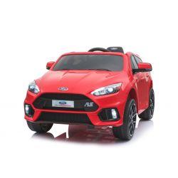 Elektromos kisautó Ford Focus RS, Piros, 12V, EVA kerekek, műbőrözött ülés, 2,4 GHz távirányító, 2 X MOTOR, USB, Bluetooth, Rádió